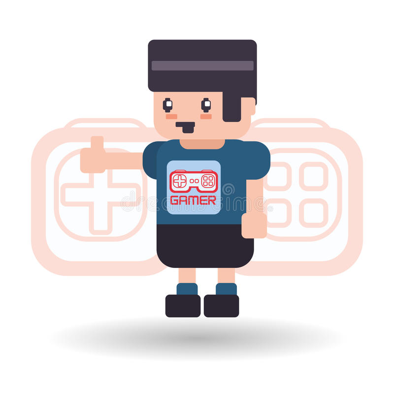 Videogamesymbolsdesign royaltyfri illustrationer