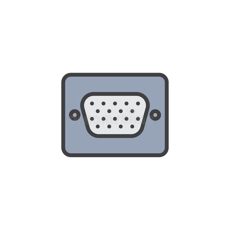 Videogefüllte Entwurfsikone der graphikreihe Hafen vektor abbildung