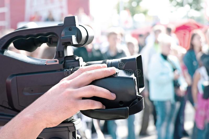Videographer photo stock