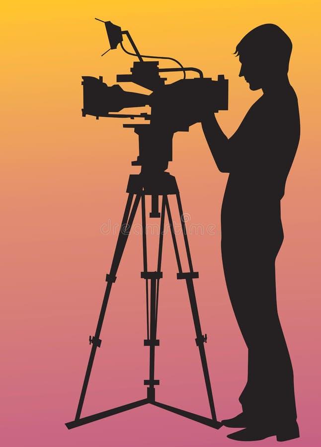 Videographer иллюстрация штока