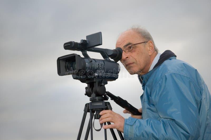 Videographer lizenzfreies stockbild