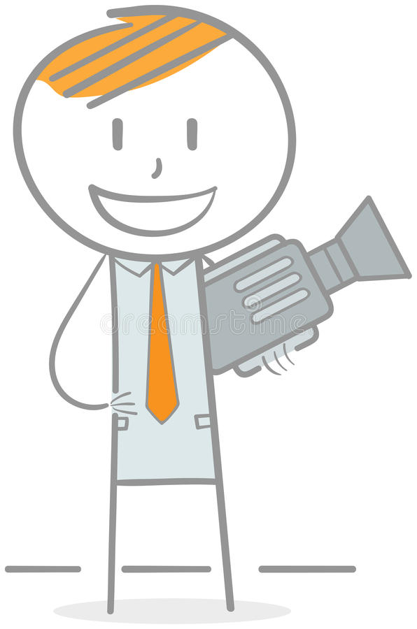 Videographer illustration stock