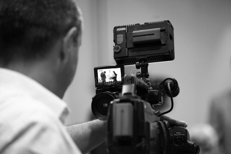 Videographer immagini stock libere da diritti