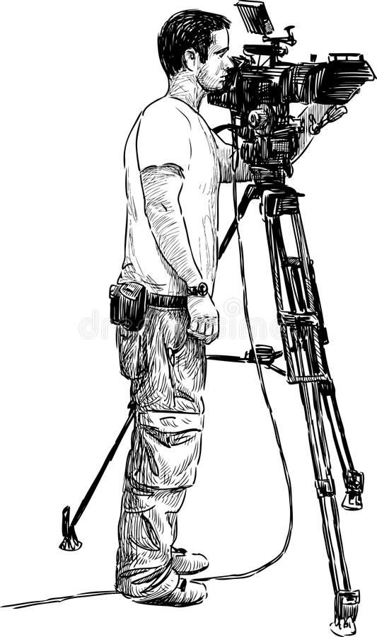 videographer stock photo  image of white  drawn  realistic