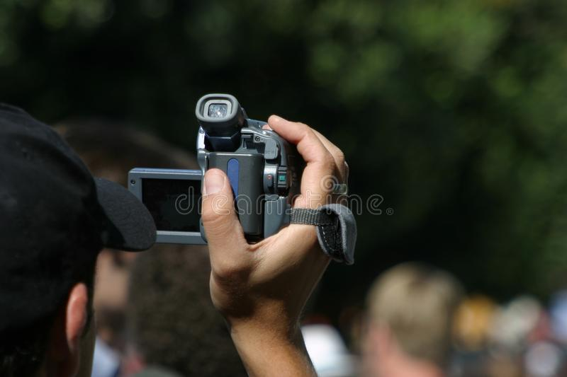 Download Videographer at work stock photo. Image of film, record - 779244
