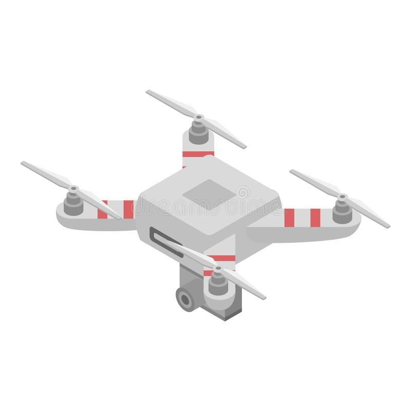 Videography drone icon, isometric style. Videography drone icon. Isometric of videography drone vector icon for web design isolated on white background vector illustration