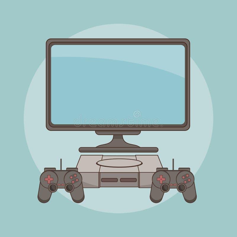 Videojuego clásico de la consola ilustración del vector