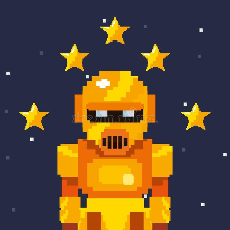 Videojuego del pixel ilustración del vector
