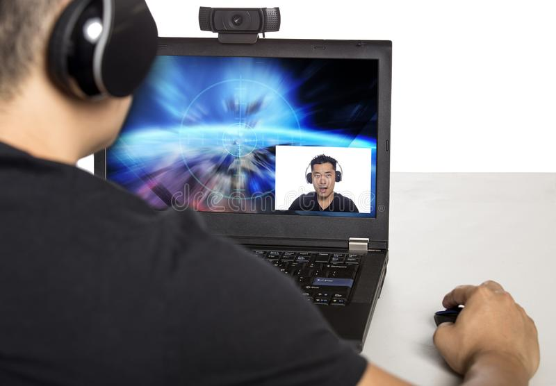 Videojuego Live Streamer foto de archivo libre de regalías