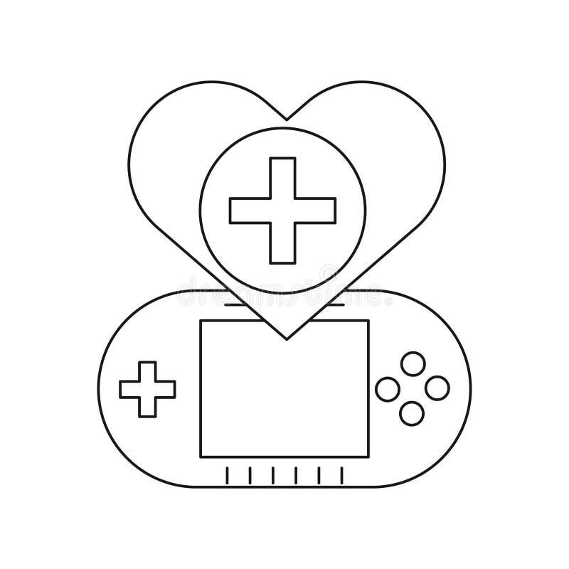Videojuego portátil con corazón fotografía de archivo libre de regalías