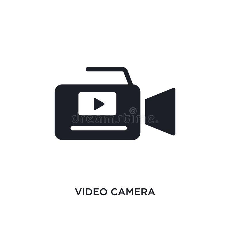 videokamera isolerad symbol enkel beståndsdelillustration från elektroniskt material att fylla begreppssymboler redigerbart logot royaltyfri illustrationer