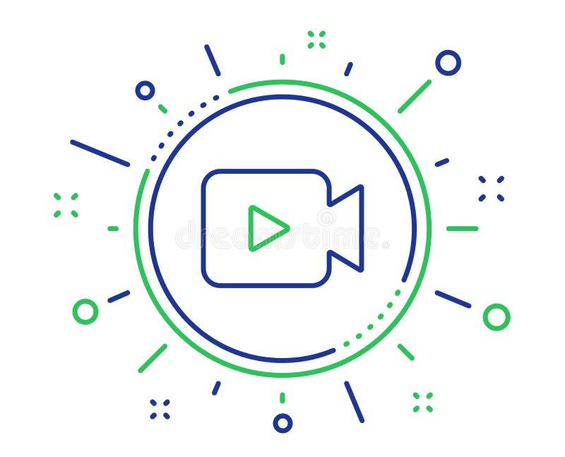 Videokameralinie Ikone Film- oder Kinozeichen Vektor stock abbildung