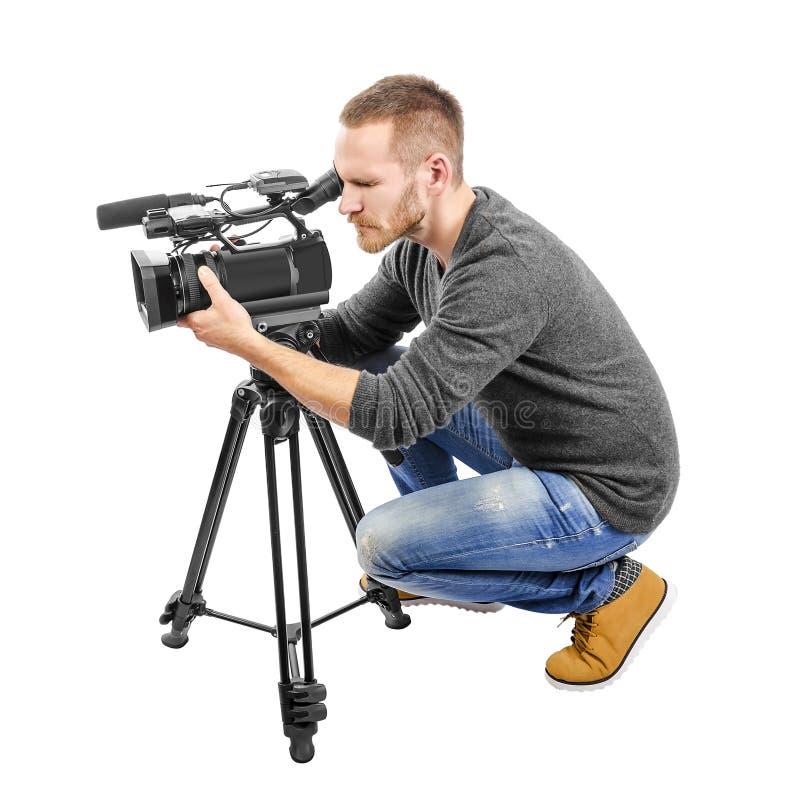 Videokameraoperatör royaltyfria bilder