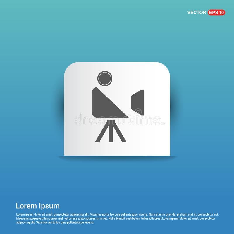 Videokamerasymbol - blå klistermärkeknapp royaltyfri illustrationer