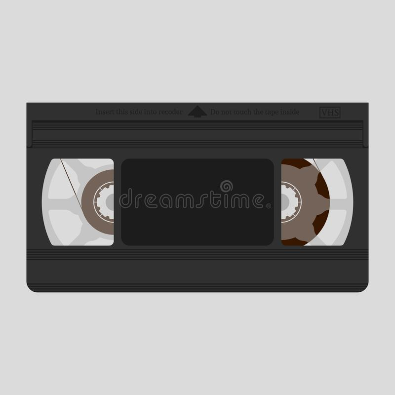 Videokassette Flaches Design Auch im corel abgehobenen Betrag stock abbildung