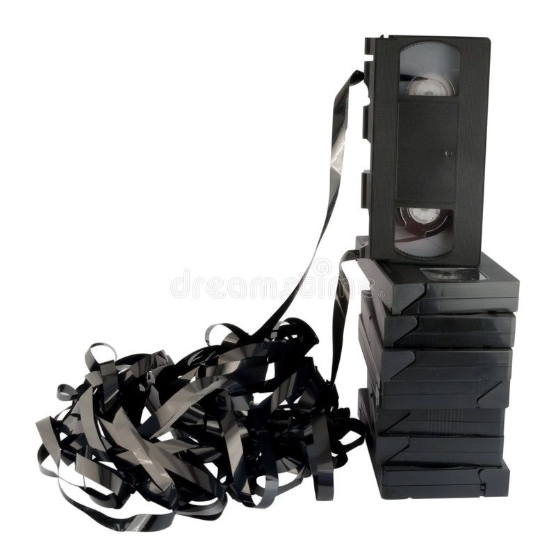 Videokassetten, getrennt, Retro--angeredet. lizenzfreie stockfotos