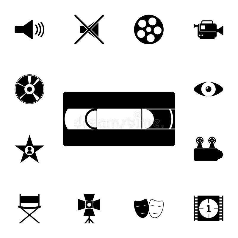 Videokassettenikone Ausführlicher Satz Kinoikonen Erstklassige Qualitätsgrafikdesignikone Eine der Sammlungsikonen für vektor abbildung