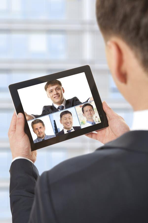 Videokonferens royaltyfri fotografi
