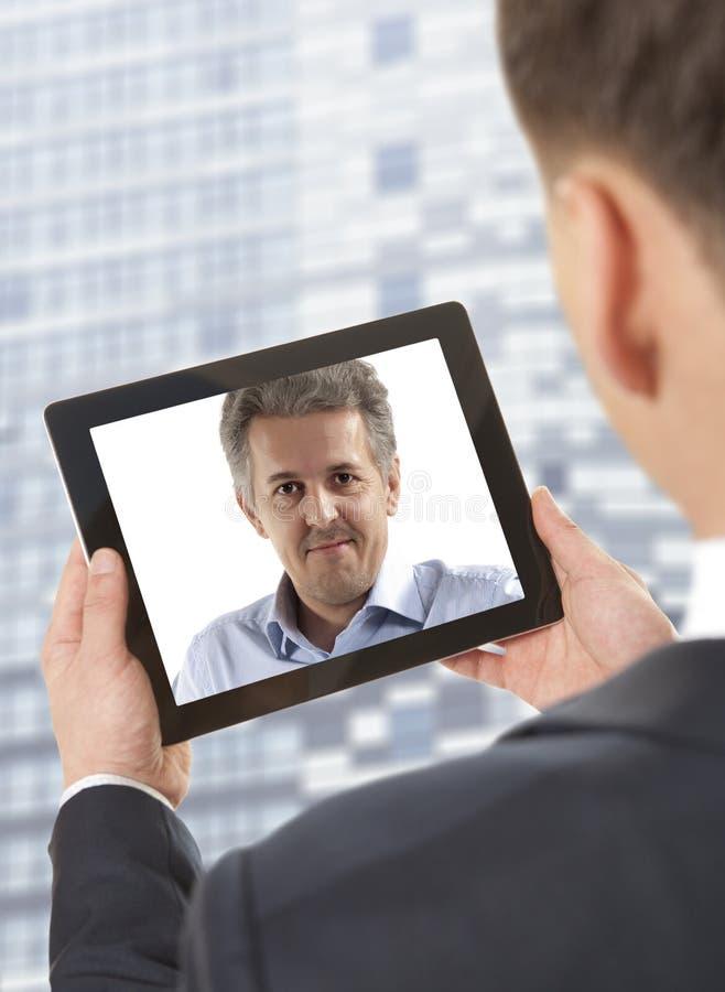 Videokonferens arkivbild