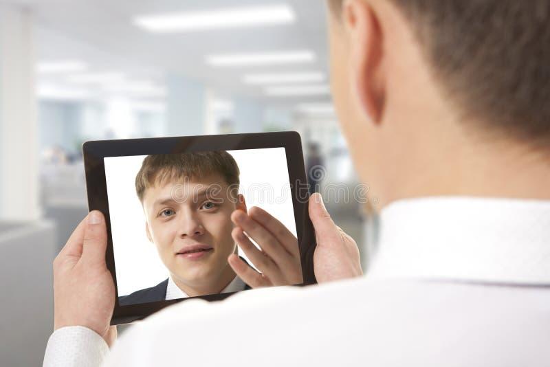 Videokonferens arkivfoton