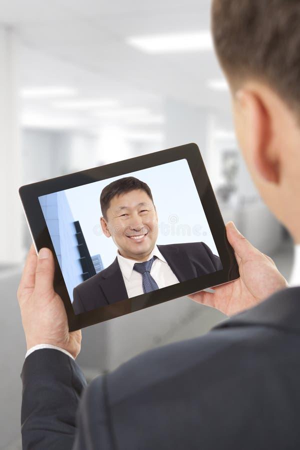 Videokonferens royaltyfria foton
