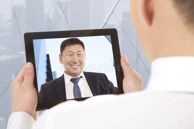 Videokonferenz stockfotografie