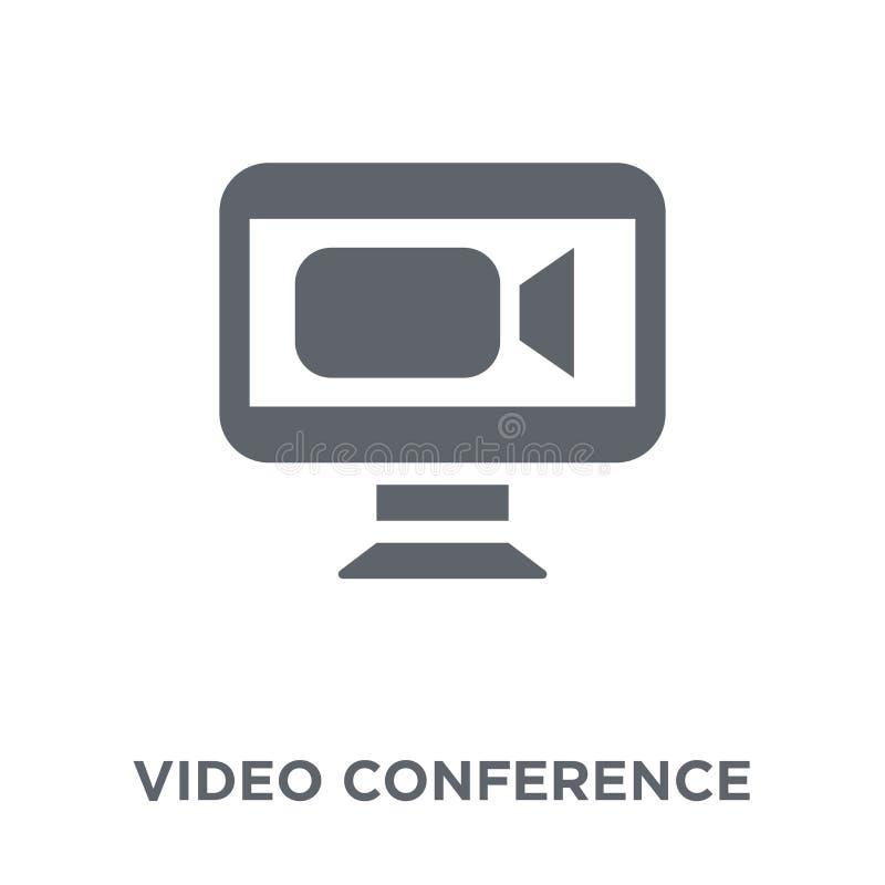 Videokonferenzikone von der Personalsammlung stock abbildung