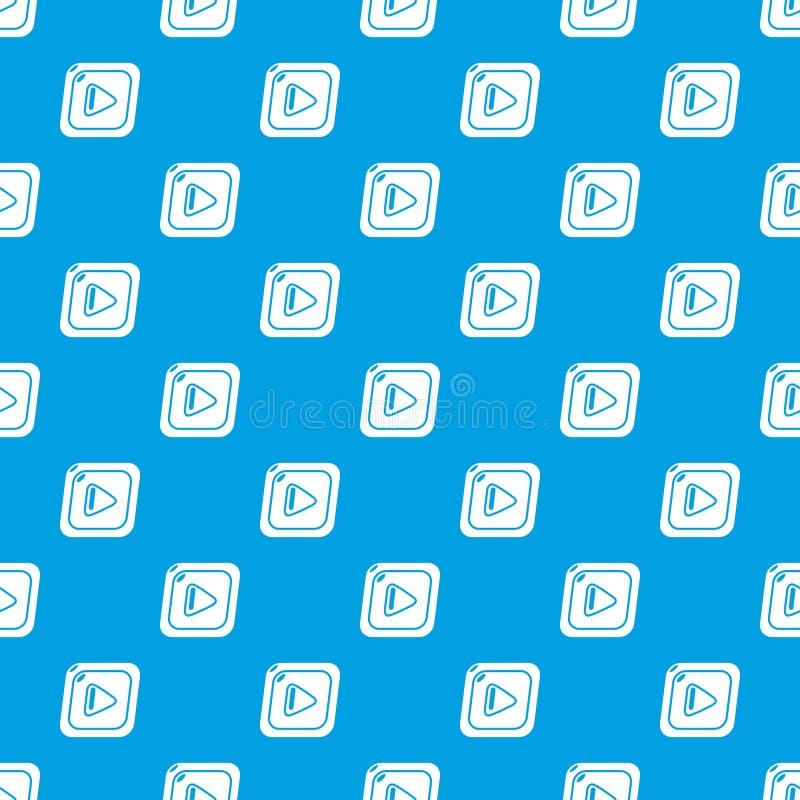 Download Videopatroon Vector Naadloos Blauw Vector Illustratie - Illustratie bestaande uit interface, element: 114226356