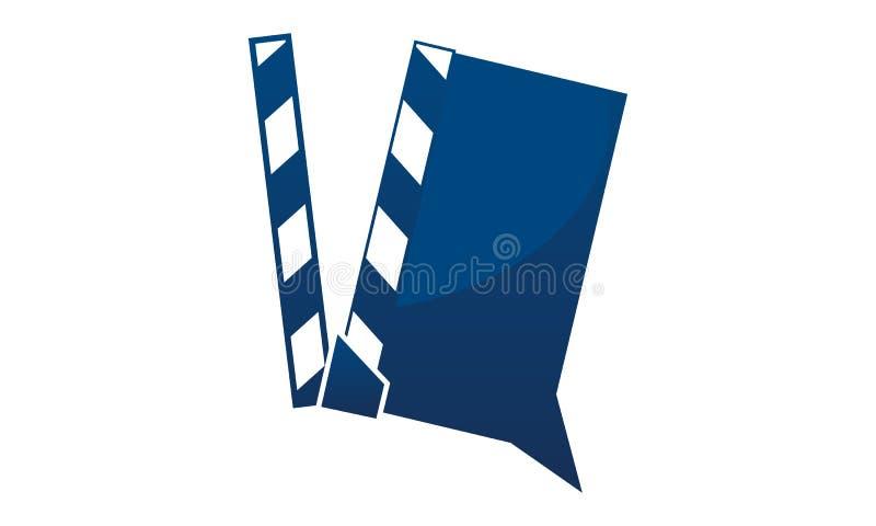 Videopd dela Logo Design Template royaltyfri illustrationer
