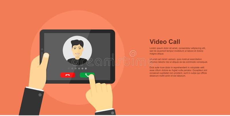 Videopn appellbegreppsbaner stock illustrationer