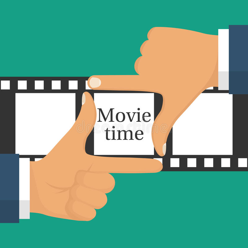 Videopn filmandebegrepp stock illustrationer