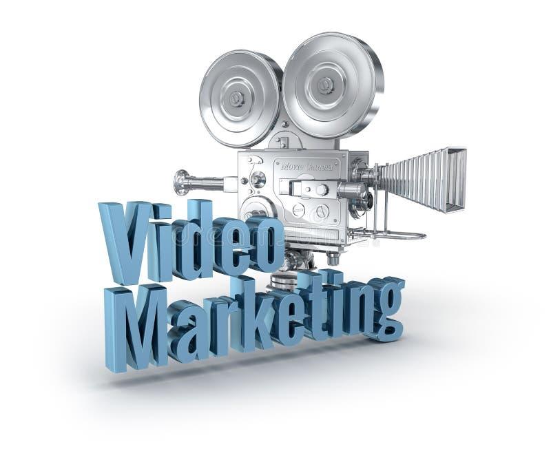 Videopn marknadsföra begrepp för ord 3d vektor illustrationer