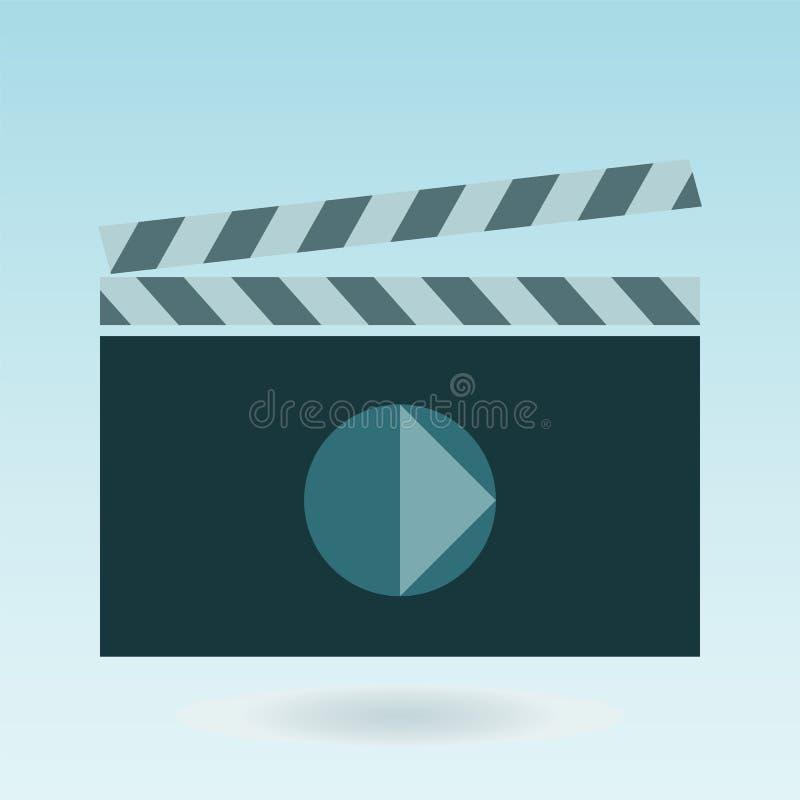 Videopn symbolsbiotecken royaltyfri illustrationer