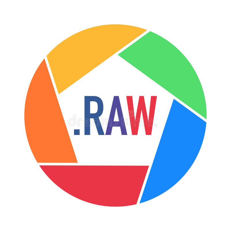 Videopp format för foto som göras i regnbågefärger royaltyfri illustrationer
