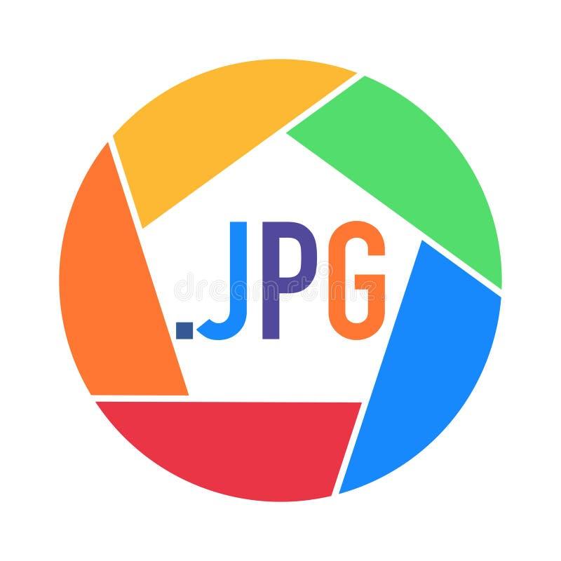 Videopp format för foto som göras i regnbågefärger stock illustrationer