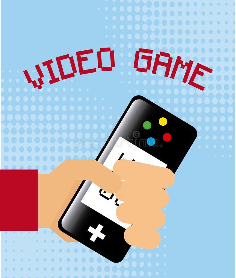 Videopp gamers stock illustrationer