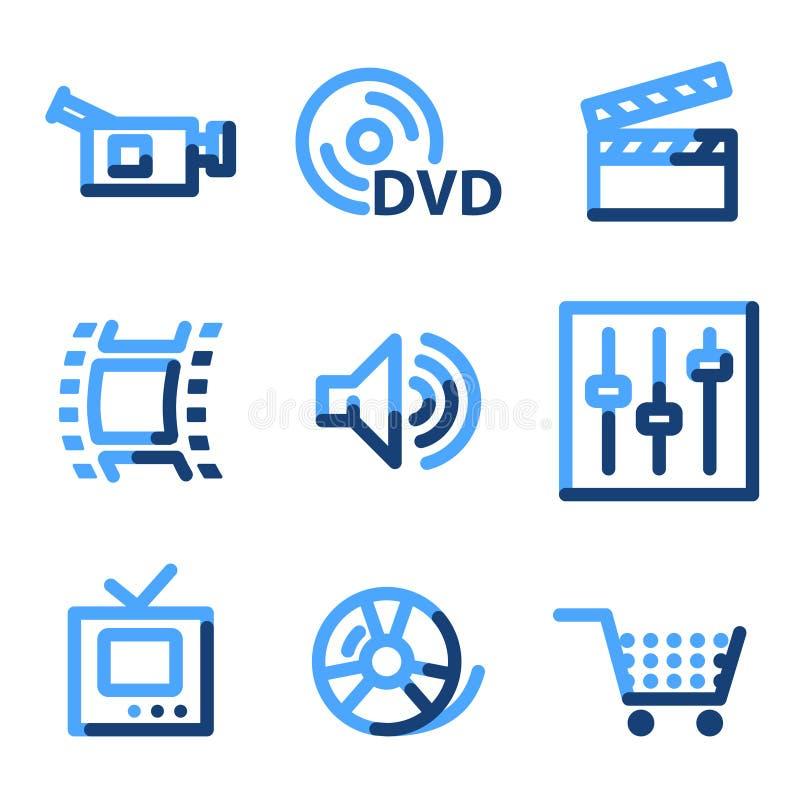 videopp symboler royaltyfri illustrationer