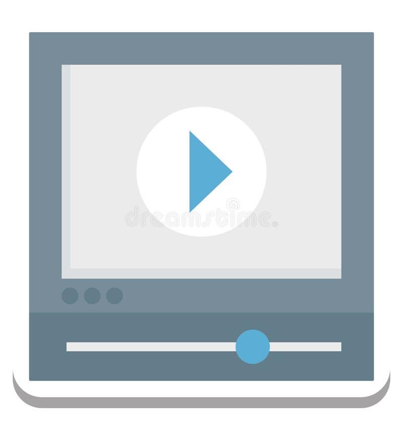 Videoproiettore, icona di vettore del riproduttore video editabile illustrazione di stock