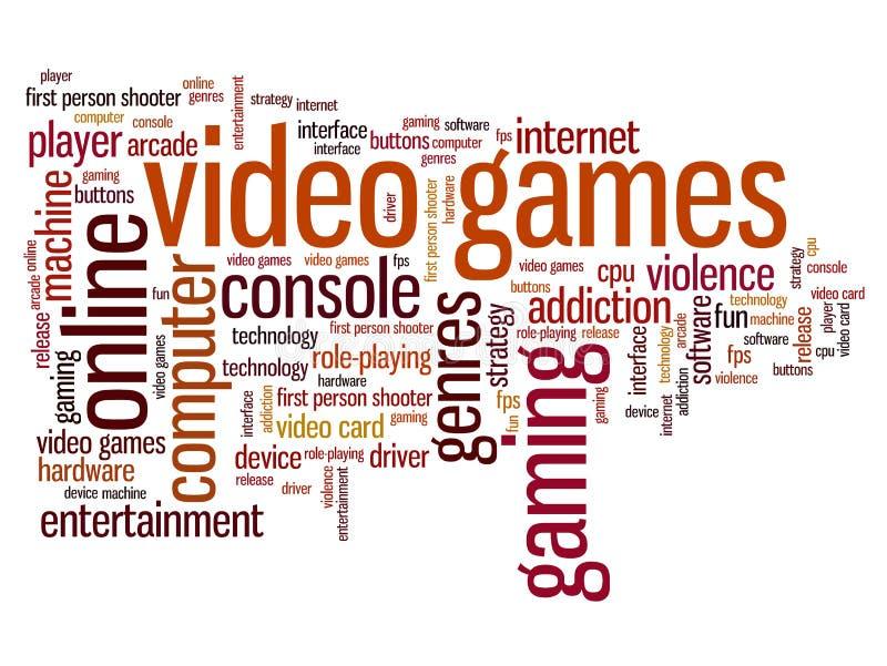 Videospel stock illustrationer