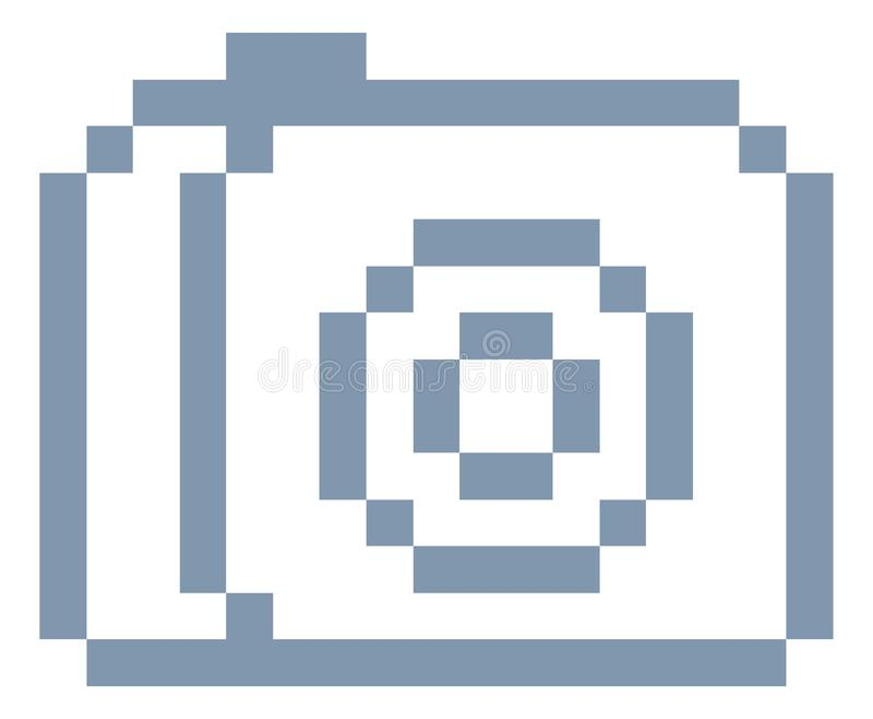Videospel Art Icon för bit för kamerafotoPIXEL 8 stock illustrationer