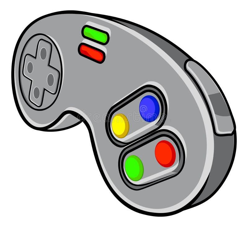 Videospelkontrollant royaltyfri illustrationer