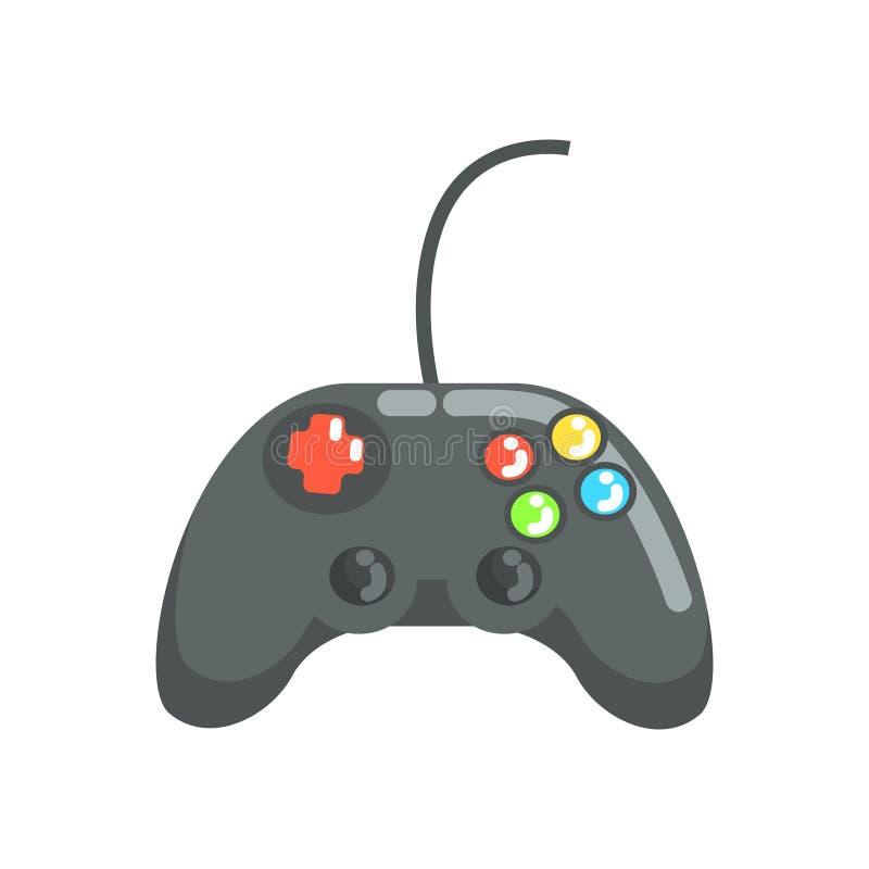 Videospelkontrollant, gamepad Färgrik tecknad filmvektorillustration stock illustrationer