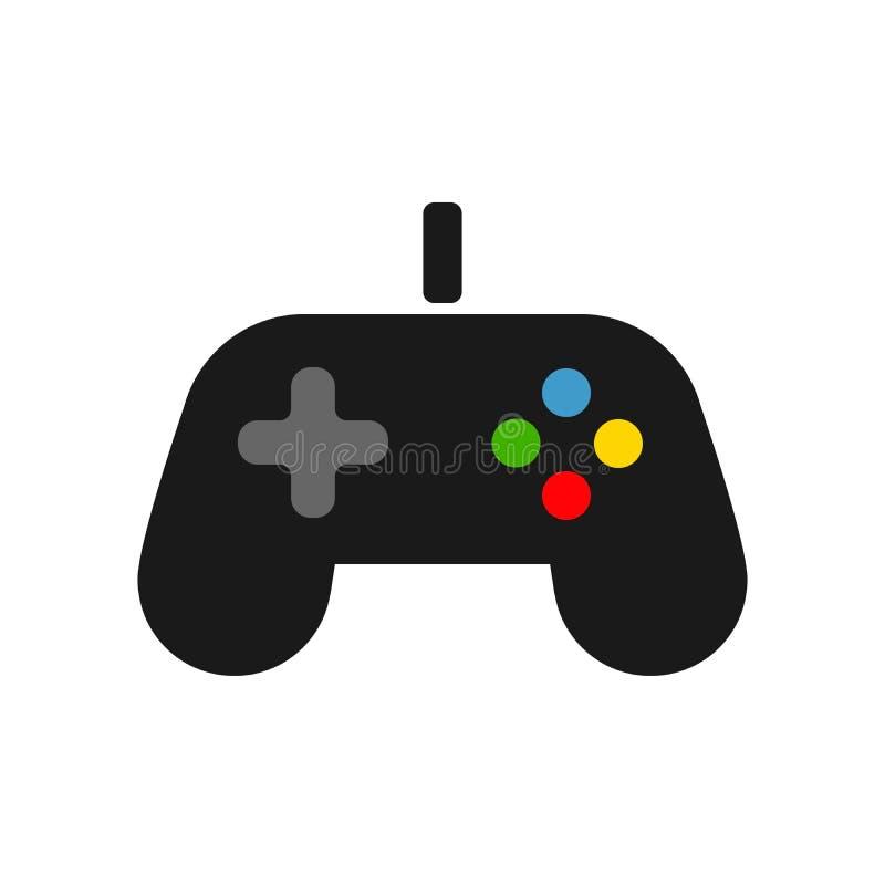 Videospelkontrollantsymbol Styrspak modig lekvektorsymbol Videospelspelare bakgrund isolerad white vektor illustrationer