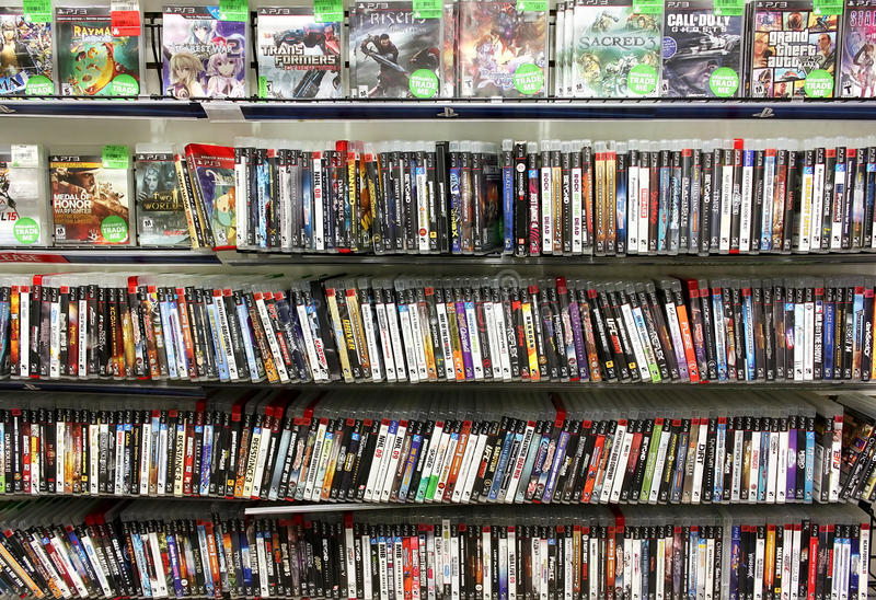 Videospellager arkivbilder