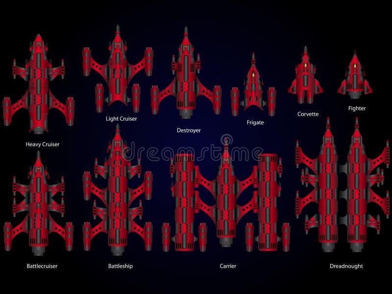 Videospelletje ruimteschip vector illustratie