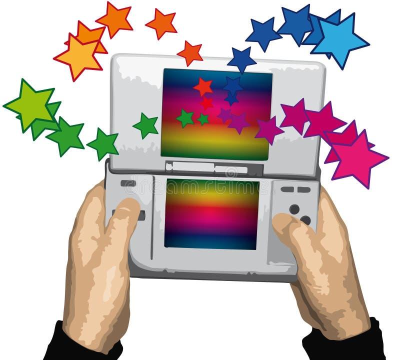 Videospelletje (vector) stock illustratie