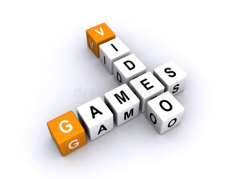 Videospelletjes vector illustratie
