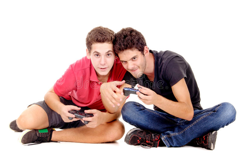 Videospelletjes royalty-vrije stock fotografie