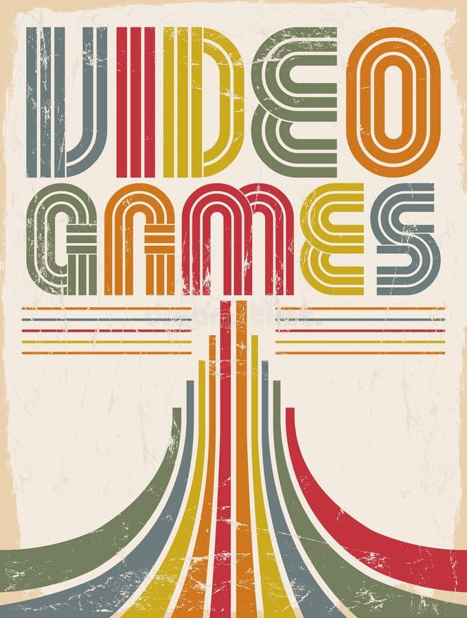Videospelletjes - affiche vector illustratie