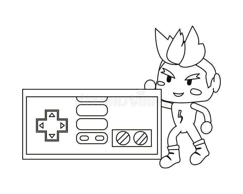 Videospelletjesontwerp royalty-vrije illustratie